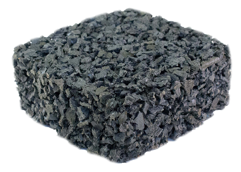 pervious rubber pavement gray