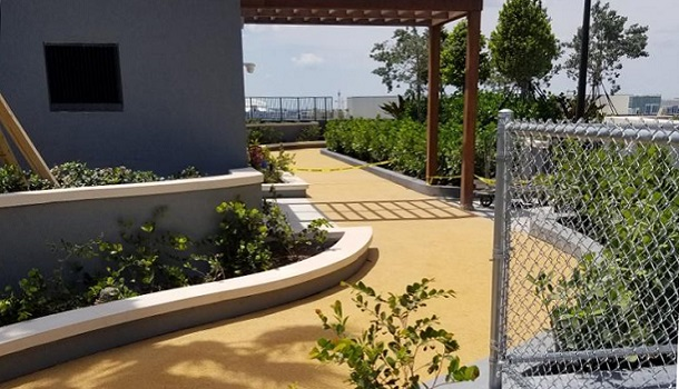 Rooftop Rubber Jogging Trail in Miami