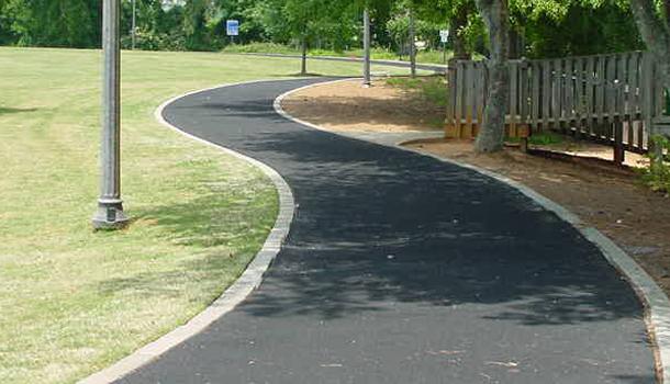 Pervious Pavement Rubber Trail