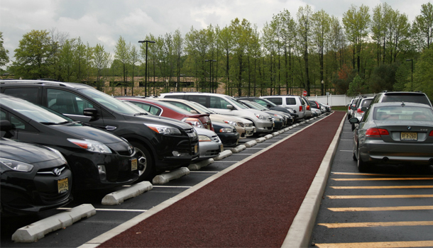 Rubberway Pervious Rubber Pavement for Parking Lot Stormwater Management