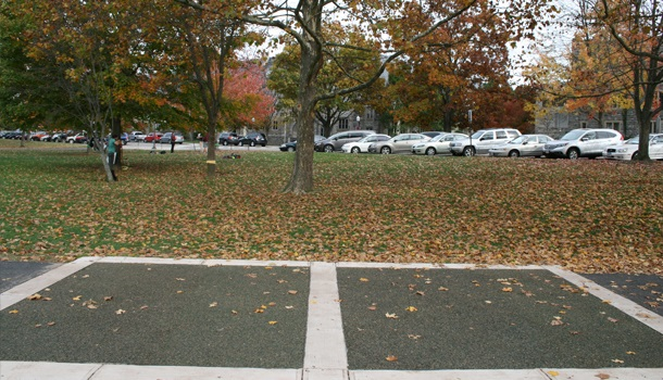 Pervious Rubber Pavement Pathway at University Campus