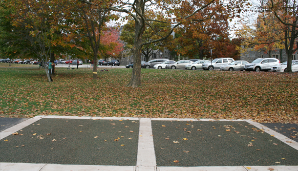 Pervious Pavement Rubber Trail at University Campus