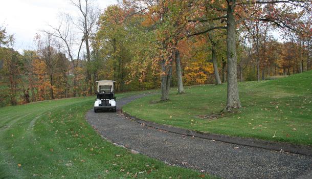 Pervious Pavement Rubber Golf Cart Path