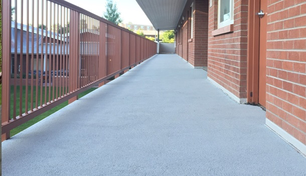 Rubberway Non-Slip Sound-Dampening Rubber Flooring for Balconies and Patios