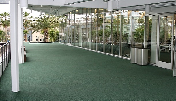 Outdoor Rubber Flooring at a Corporate Campus