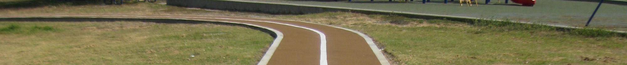 Rubber Running Track at Elementary School