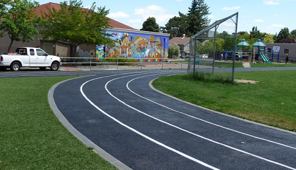 Rubber Running Tracks for Elementary & Middle Schools