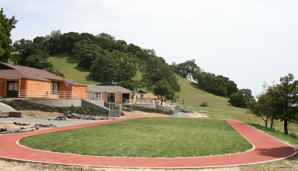 Rubber Running Track at Private School