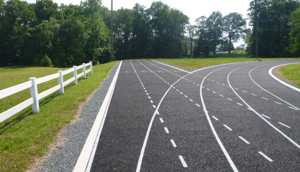 Rubber Running Tracks can be Porous for Stormwater Management