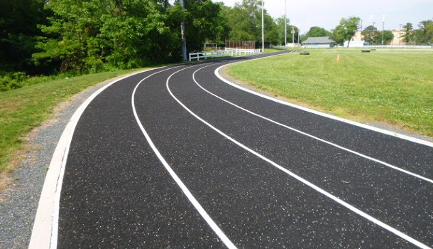 Porous Rubber Running Tracks for Stormwater Management