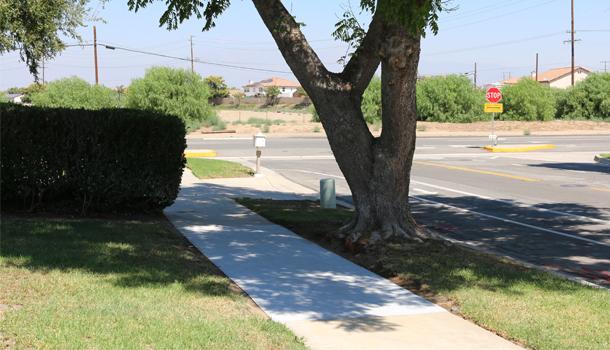 Rubberway flexible, porous, rubber sidewalks provide a long lasting solution to cracked city sidewalks