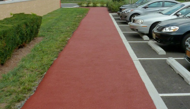 Rubberway Rubber Sidewalks are Safe, Non-Slip, and Comfortable