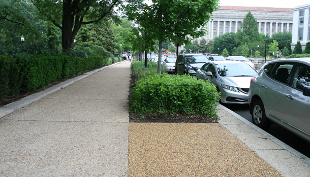 Rubberway Rubber Sidewalk Can Mimic the Look of Stone