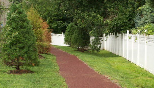 Rubberway Rubber Walking Trails are Easy on the Joints, Providing a Safe, Non-Slip, Comfortable Surface for Walking