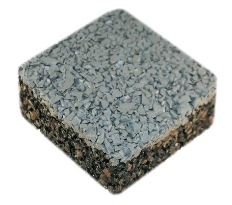 Rubberway Evolution pervious porous pavement