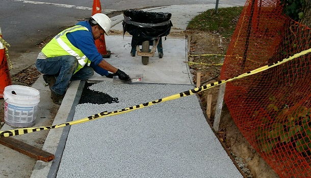 Rubberway Sidewalk Install in Virginia