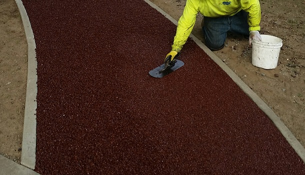 Rubberway is Hand Troweled Smooth