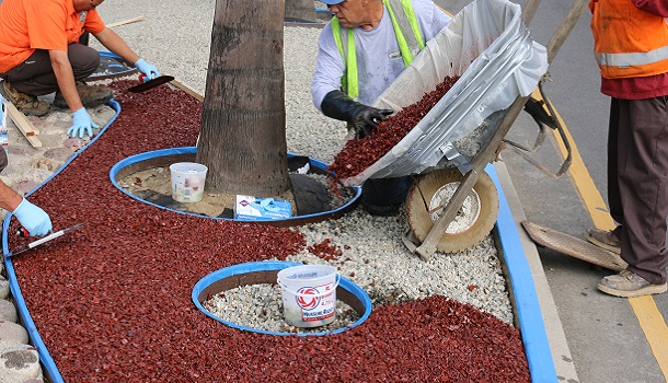 Rubberway is Mixed and Poured in Place