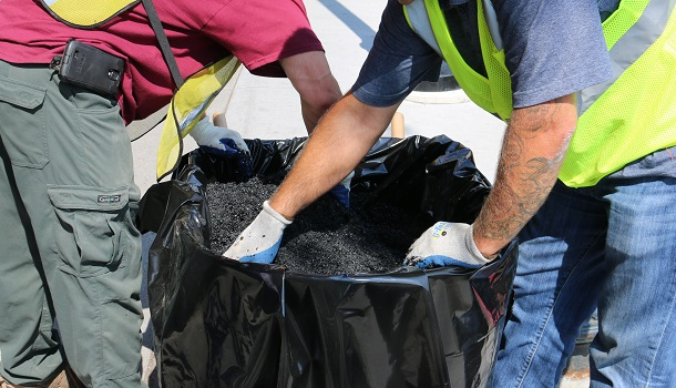 Rubberway Can Be Mixed in a Wheelbarrow for Small Areas