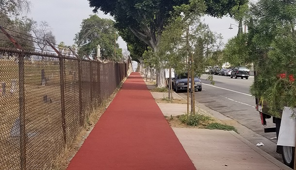 Rubberway Installed Over Concrete for a Comfortable Jogging Trail