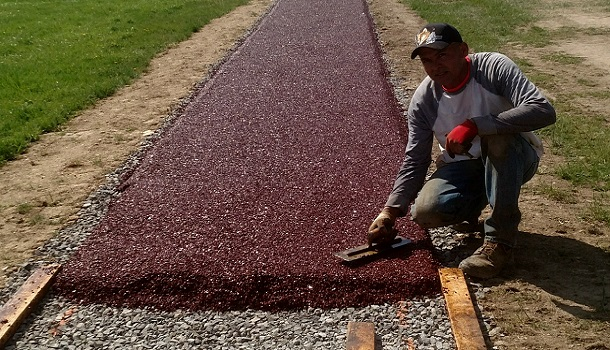 Rubberway Pervious Pavement Path Install
