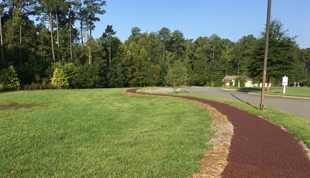 Porous Rubber Pavement Path in Senior Living Community