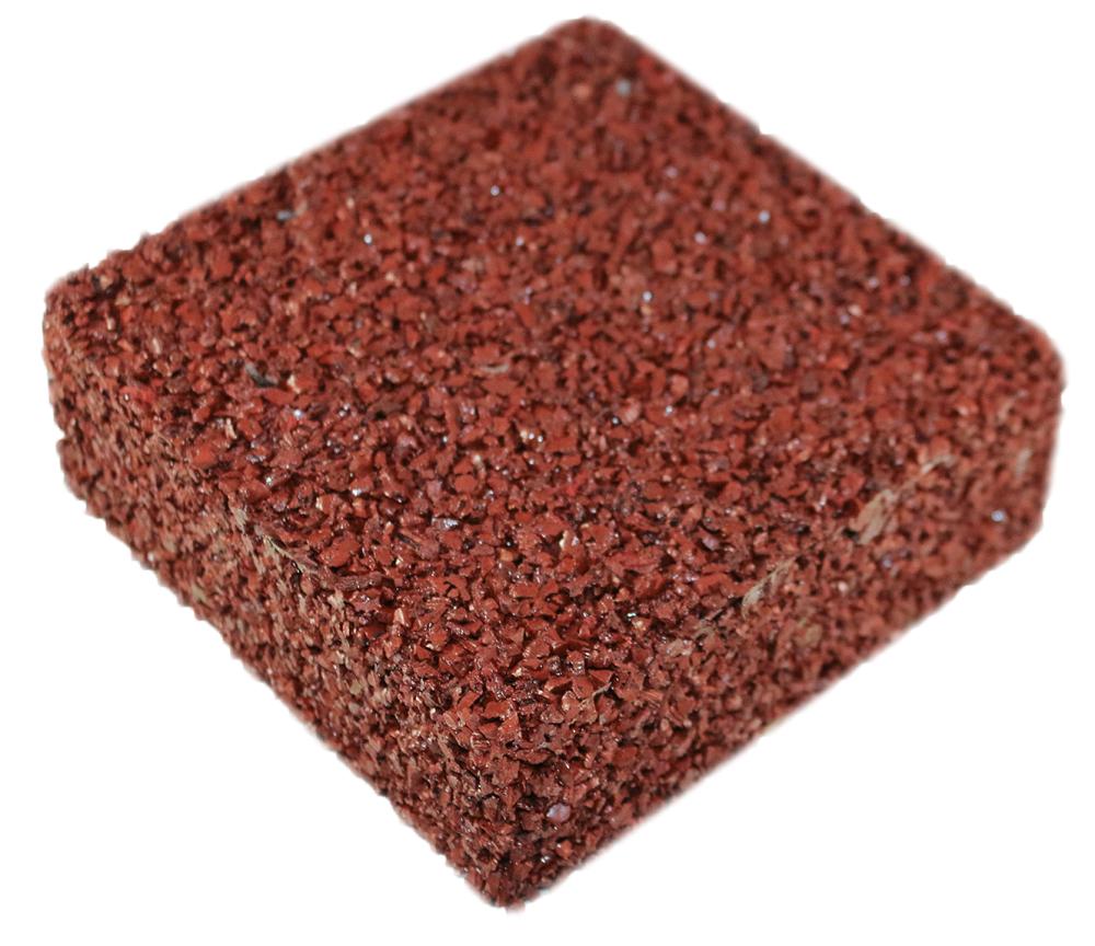 Rubberway pervious pavement brick red