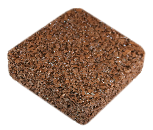 Rubberway pervious pavement nutmeg