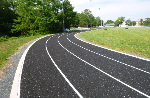 U.S. Navy Rubber Running Track